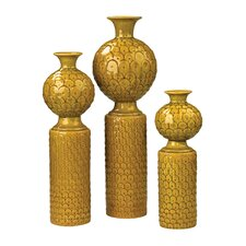 3 Piece Ceramic Vase Set