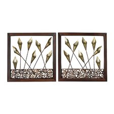 <strong>Sterling Industries</strong> Delph Framed Tulip Wall Art (Set of 2)