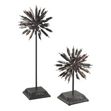 2 Piece Boulevard Abstract Finial Set