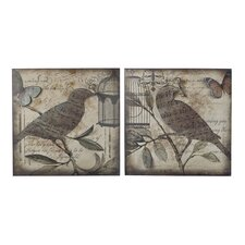 <strong>Sterling Industries</strong> Bird 2 Piece Beleden Wall Décor Set