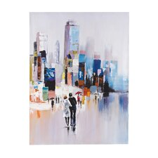 Together Oversized Oil Painting Print on Canvas