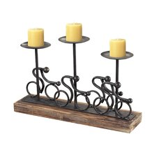 Altringham Abstract Cyclist Metal Candelabra