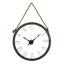 "Hung On Rope Oversized 36"" Wall Clock"