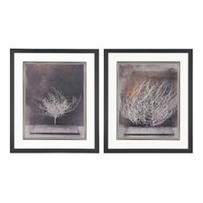 Desert Form Print Under Glass 2 Piece Framed Painting Print Set