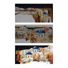 Exclusive Alberto De Serafino Stretched 3 Piece Painting Print on Canvas