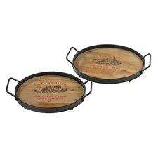 <strong>Sterling Industries</strong> Wine Lovers Tray (Set of 2)