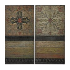 Brichell Spanish Tiles 2 Piece Graphic Art Plaque Set