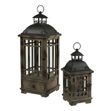 <strong>Sterling Industries</strong> 2 Piece Pointe Boise Lantern Set