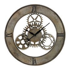 "Oversized 30"" Industrial Cog  Wall Clock"