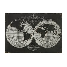 Map Laser Of World Globe Graphic Art on Canvas