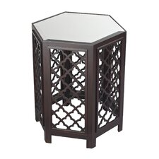 Marrakesh Moorish Pattern Side Table with Mirrored Top