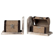 <strong>Sterling Industries</strong> Travellers Trunk Book Ends (Set of 2)