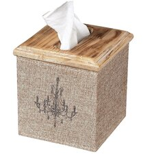 <strong>Sterling Industries</strong> Linen Covered Tissue Box