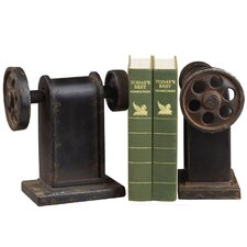 Industrial Book Press Book Ends (Set of 2)