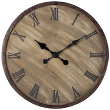 "Oversized 23.5"" Roman Numeral Wall Clock"