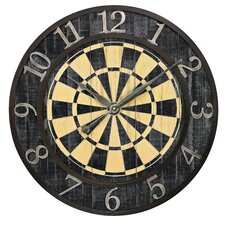 "Dart Board Oversized 24"" Wall Clock"