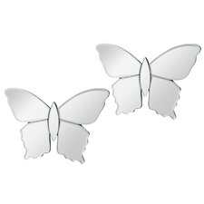 Mirrored Butterfly Wall Décor