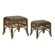 Furniture 2 Piece Stitch Point Ottoman Set