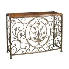 <strong>Sterling Industries</strong> Floral Scroll Console Table