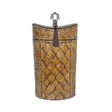 Harlequin And Tassel Decorative Urn