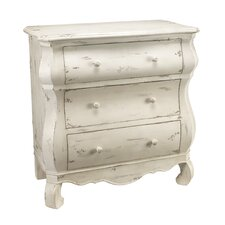 Bleached Boudoir 3 Drawer Chest