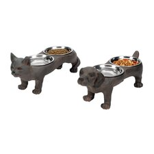 Two Piece Perfect Pet Bowl Set