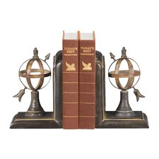 Two Piece Arrow and Sphere Bookend Set
