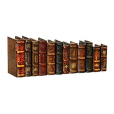 Twelve Piece Leather Bound Book Set