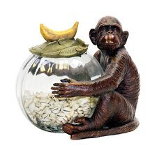 Monkey Jar Keeper Figurine