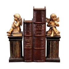 Thinking Cherub Book End (Set of 2)