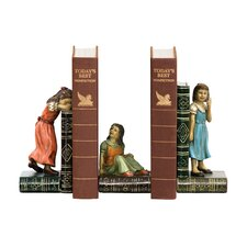 Three Piece Child Game Bookend Set