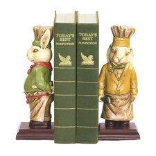 Chef Bunny Bookends (Set of 2)