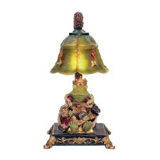"Resting Queen Frog 12.25"" H Table Lamp with Bowl Shade"