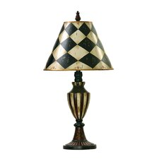 Harlequin and Stripe Urn Table Lamp