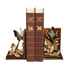 Butterflies Foraging Book Ends (Set of 2)