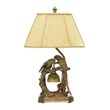"Twin Parrots 25"" H Table Lamp with Empire Shade"