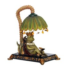 "Sleeping King Frog 12.25"" H Table Lamp with Bowl Shade"