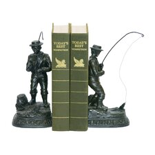 Fish on Line Book Ends (Set of 2)
