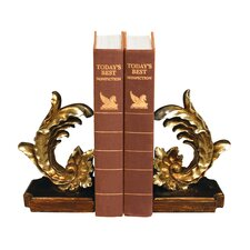 Cresting Leaf Book Ends (Set of 2)