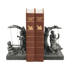 Two Piece Not Too High Book End Set