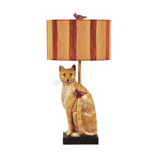 "Cats Meow 33"" H Table Lamp with Drum Shade"