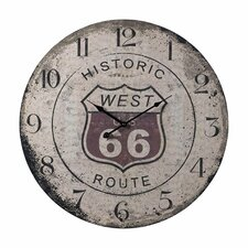 "Oversized 24"" Route 66 Wall Clock"