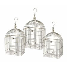 3 Piece Vintage Bird Cage Sculpture