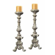 Resin Candlestick (Set of 2)