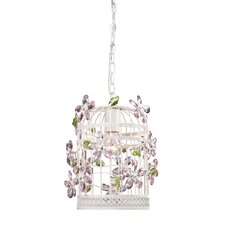 <strong>Sterling Industries</strong> 1 Light Bird Cage Crystal Foyer Pendant