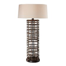 <strong>Sterling Industries</strong> Rattan Table Lamp