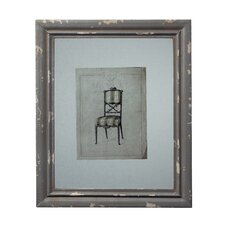 Picture Frame with Antique Chair Print
