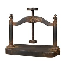 Cast Iron Book Press Sculpture