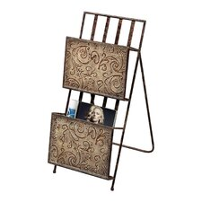 <strong>Sterling Industries</strong> Embossed Magazine Rack