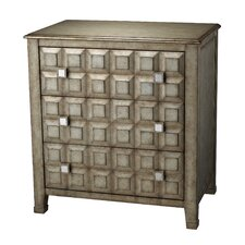 <strong>Sterling Industries</strong> 3 Drawer Chest with Crystal Handles